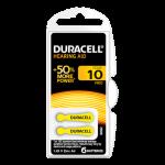 Duracell 10 Numara İşitme Cihazı Pili 6'lı Paket