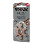 Rayovac Extra Advanced 312 Numara İşitme Cihazı Pili 6'lı Paket